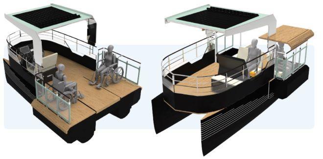 Otra de las propuestas de embarcación basada en nuestra Xouva4.90
